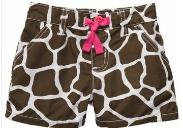 Carters Animal Print Shorts
