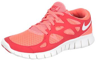 Nike FREE Run+ 2 Women's Shoes Mango/Red/Sail